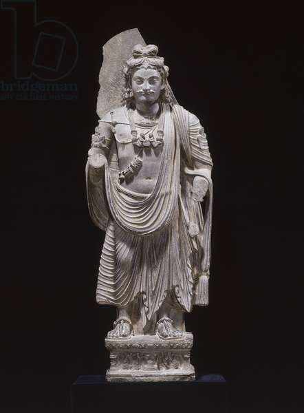 Bodhisattva, Kushana period, from Gandharan, Pakistan (grey schist)