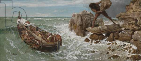 Odysseus and Polyphemus, 1896 (oil & tempera on panel)