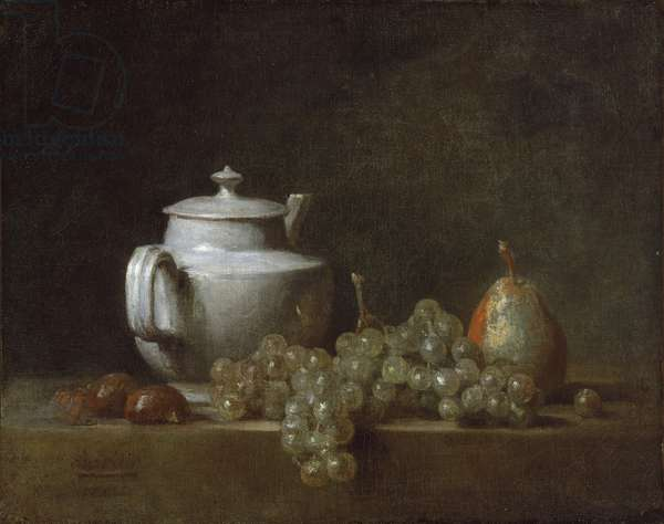 Still Life with Tea Pot, Grapes, Chesnuts, and a Pear, c.1764 (oil on canvas)