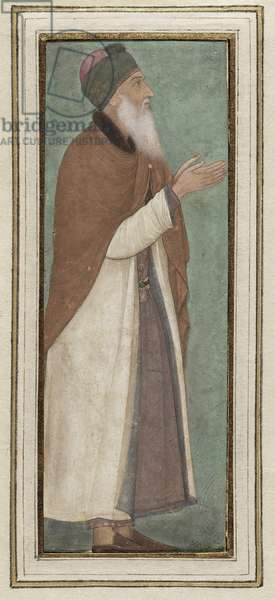 Portrait of an Imam, from Northern India, c.1620 (opaque w/c & gold on paper)