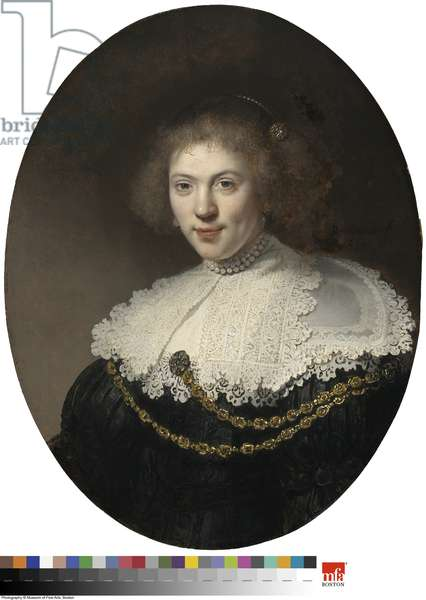 Portrait of a Woman Wearing a Gold Chain, 1634 (oil on panel)