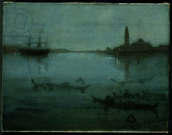 Nocturne in Blue and Silver: The Lagoon, Venice, 1879-80 (oil on canvas)