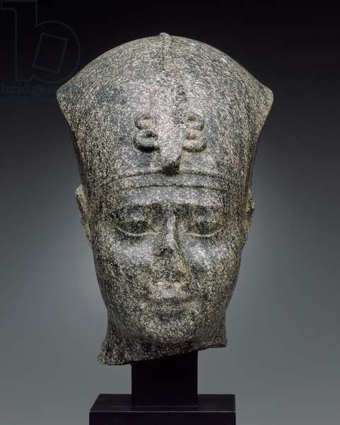 Head of Nectanebo II, Late Period, Dynasty 30, reign of Nectanebo II, 362-–343 B.C. (granodiorite)