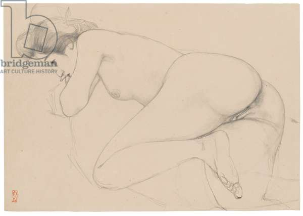 Reclining Nude (graphite on paper)
