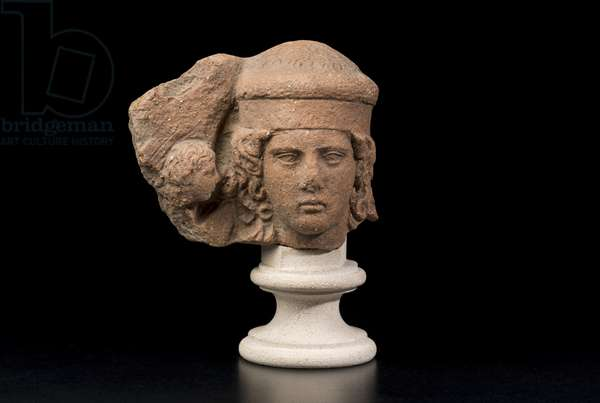 Female Head With Whispering Eros, 410-380 BC (terracotta)