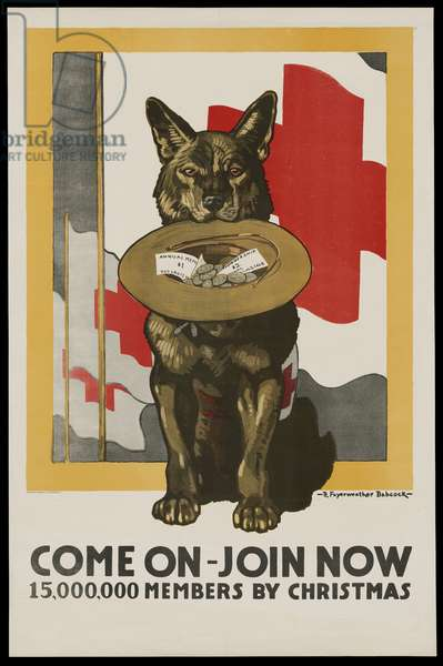 Come On - Join Now - 15,000,000 Members by Christmas, 1917 (colour litho)
