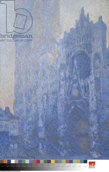 Rouen Cathedral Facade and Tour d'Albane (Morning Effect) 1894 (oil on canvas)