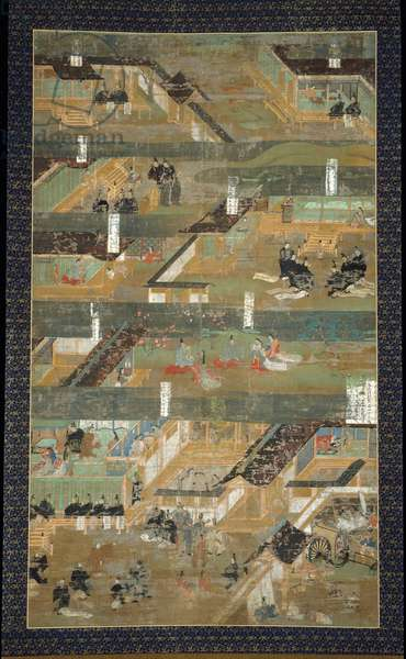 The Legendary Biography of Prince Shotoku (The First Scroll) (ink, colour & gold on silk)