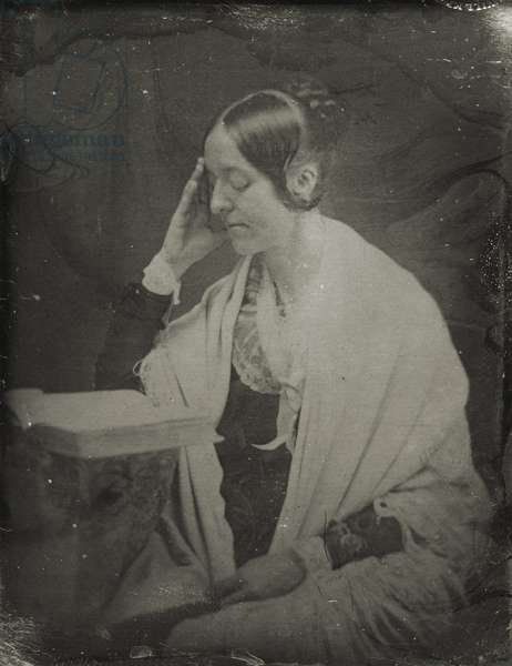 Margaret Fuller (1810-50) after a photograph by John Plumbe (1809-57) 1850-54 (daguerrotype)