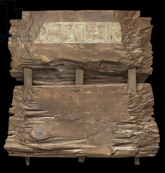 Exterior of the head end panel from the outer coffin of Djehutynakht (cedar)