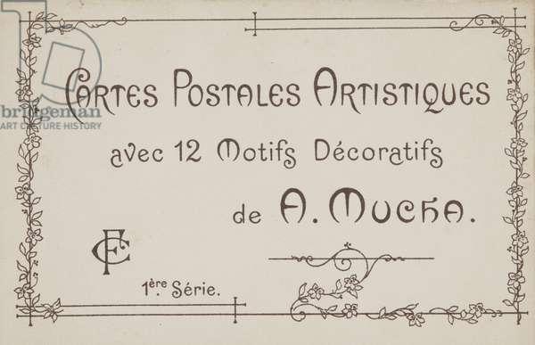 Envelope for the series Cartes Postales Artistiques 1ère Série (colour litho)