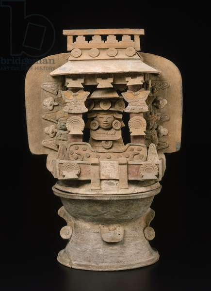 Effigy incense burner top, Early Classic Period (400-550 AD) (earthenware)
