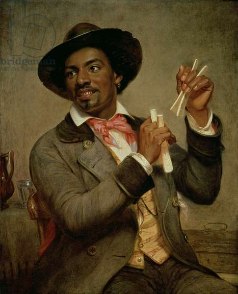 The Bone Player, 1856 (oil on canvas)