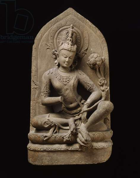 Avalokiteshvara, Pala period, from Bihar (grey schist)