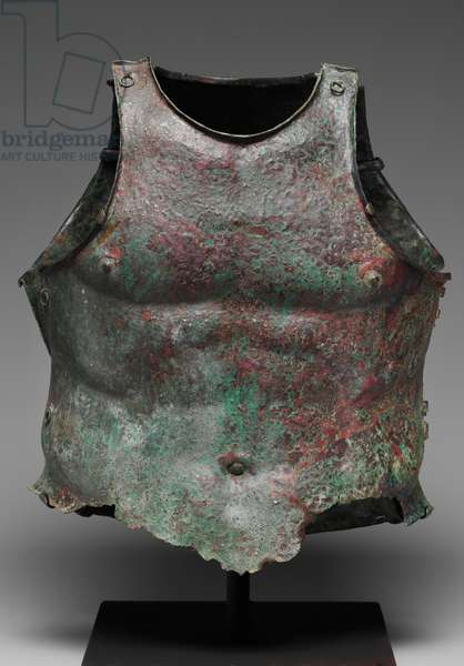 Cuirass from southern Italy, Early Hellenistic Period, late 4th century BC (bronze)