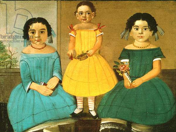 Three Sisters of the Copeland Family, 1854 (oil on canvas)