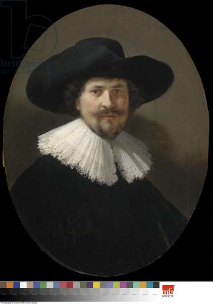 Portrait of a Man Wearing a Black Hat, 1634 (oil on panel)
