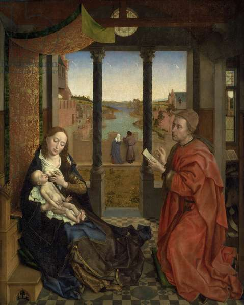St. Luke Drawing the Virgin, c.1435-40 (oil & tempera on panel)