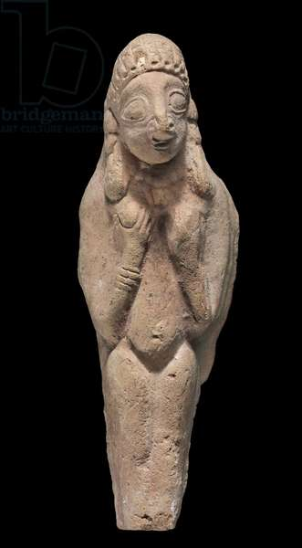 Standing figurine of Cypriot Aphrodite-Astarte, Cypro-Archaic Period (terracotta)