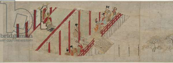 Minister Kibi's Adventures in China, Scroll 3, Heian Period (ink, colour & gold on paper)