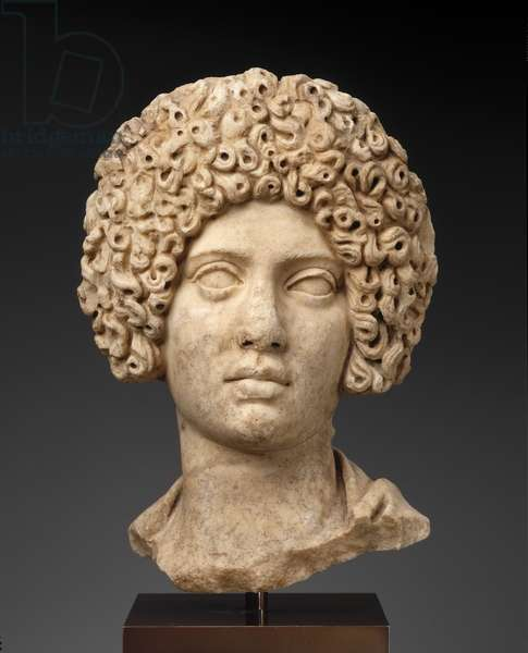 Portrait of a woman, possibly from Greece, Imperial Roman Period, Trajanic or Hadrianic, 100-125 AD, (marble)