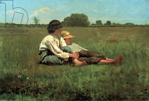 Boys in a Pasture, 1874 (oil on canvas)