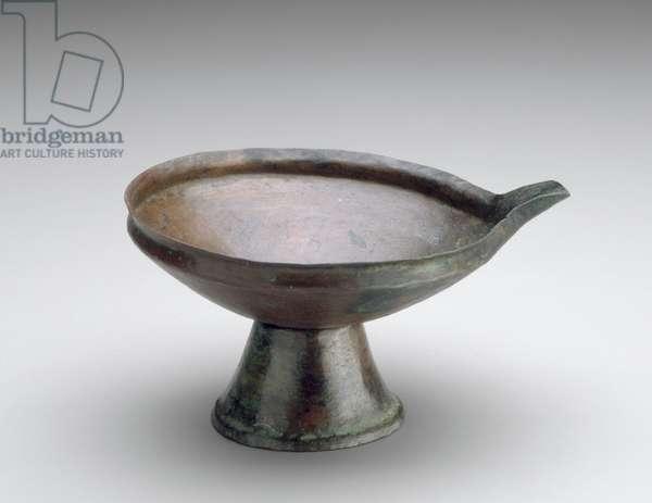 Bowl, Old Kingdom, Dynasty 6, reign of Neferkare Pepy, 2246-–2152 B.C. (copper)