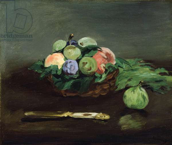 Basket of Fruit, c.1864 (oil on canvas)