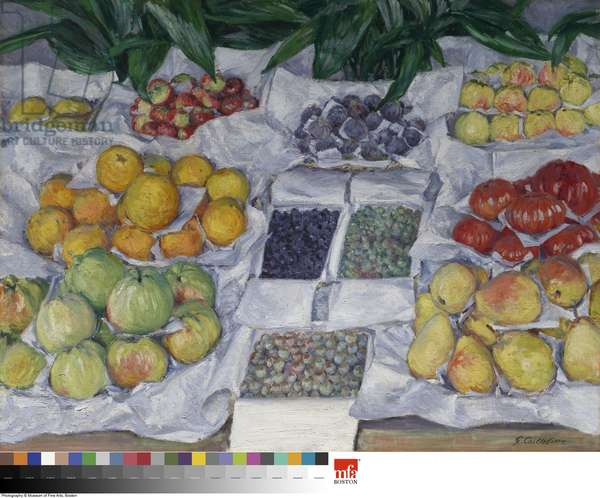 Fruit Displayed on a Stand, c.1881-82 (oil on canvas)