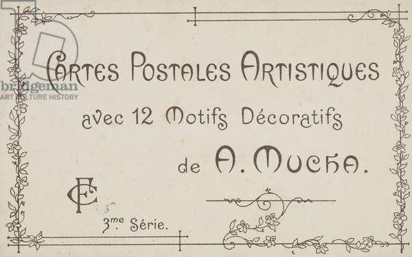 Envelope for the series Cartes Postales Artistiques; Series 3 (colour litho)