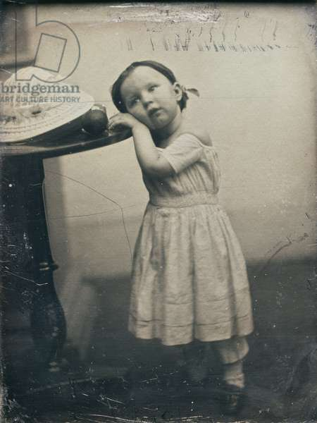 Alice Hawes as a child, 1852-56 (daguerreotype)