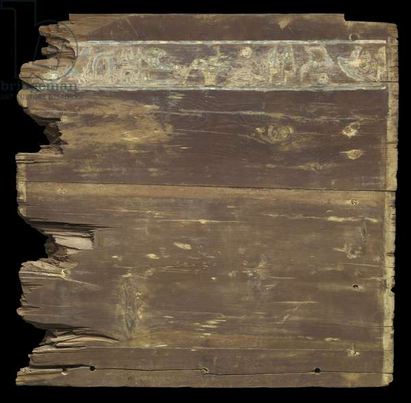 Exterior of the foot end panel from the outer coffin of Djehutynakht (cedar)