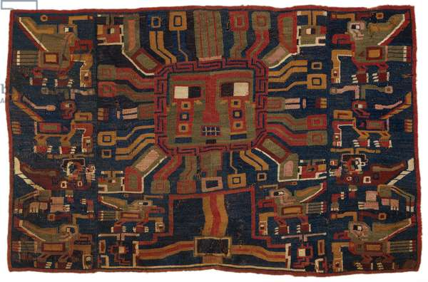 Tapestry panel from a Tiwanaku-style tunic, 250-–450 (wool)