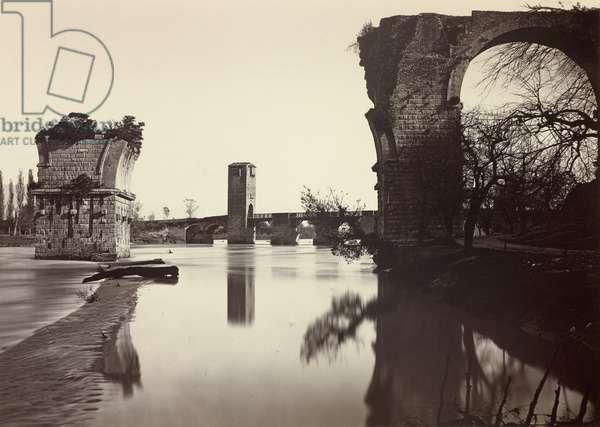 Augustan Bridge at Narni, 1865-80 (albumen print)