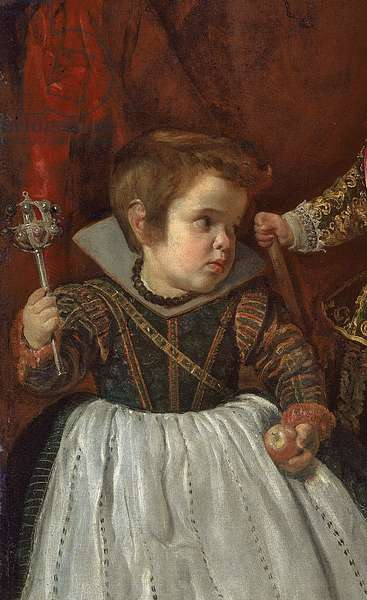 Don Baltasar Carlos with a Dwarf, 1632 (oil on canvas) (detail of 189948)