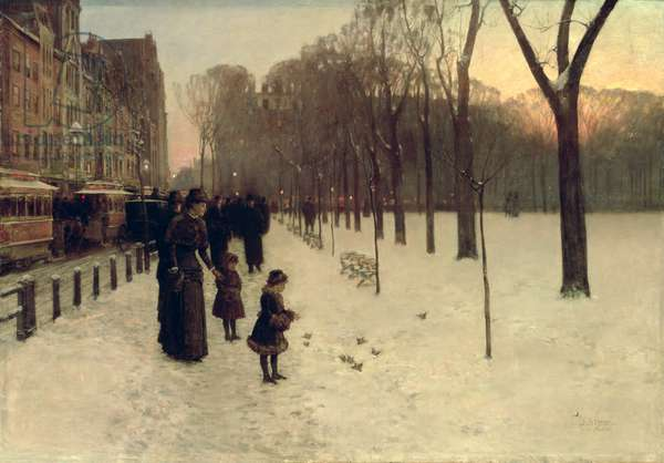 Boston Common at Twilight, 1885-86 (oil on canvas)