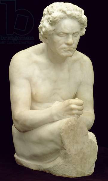 Figure of Beethoven, after 1902 (marble)