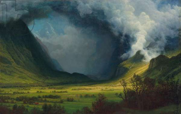 Storm in the Mountains, c.1830 (oil on canvas)