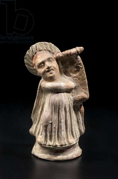 Caricature of a poet singing (terracotta)