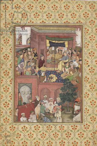 Birth of a Prince, from Northern India, c.1620 (opaque w/c on paper)