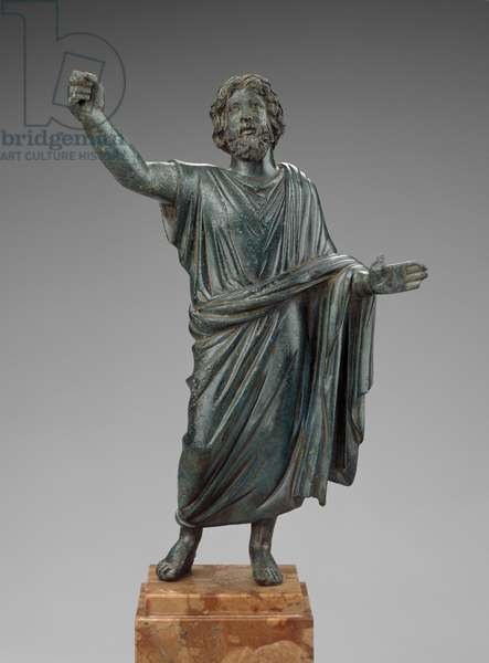 Statuette of a paternal deity, possibly Jupiter, 2nd century AD (bronze)