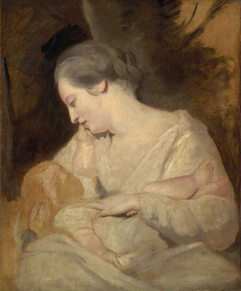 Mrs. Hoare Holding her Child, c.1763 (oil on canvas)