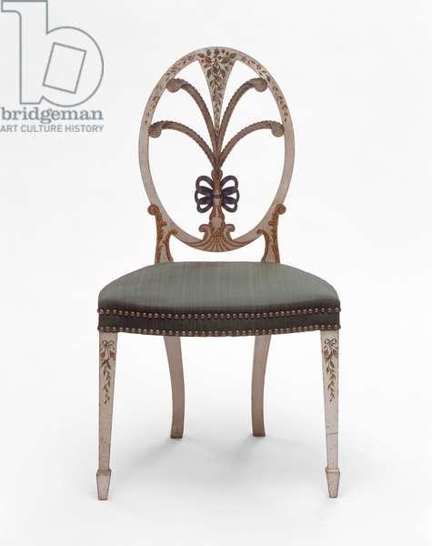 Side chair, c.1795–-1800 (beech, maple, oak & textile)