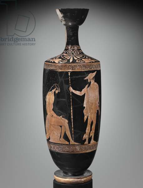 Oil Flask, Early Classical Period, c.460 BC (ceramic)