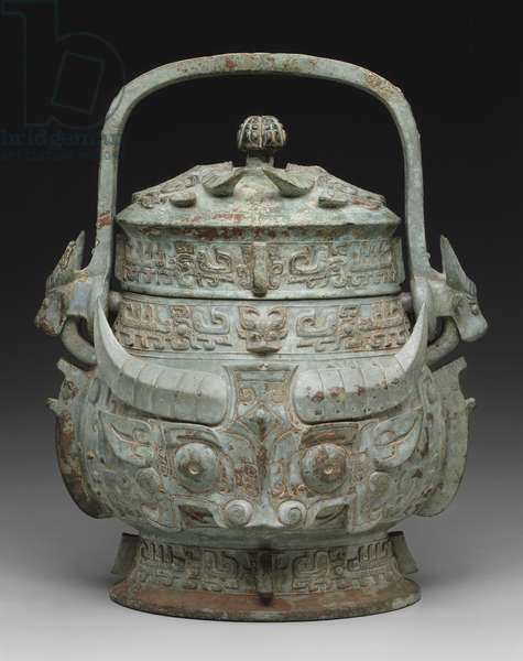 Ritual vessel with cover (bronze)