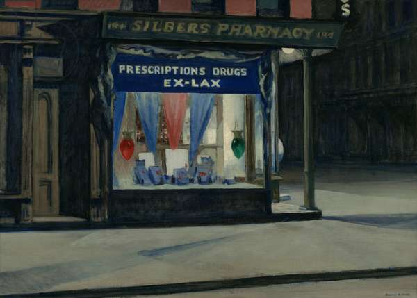 Drug Store, 1927 (oil on canvas)