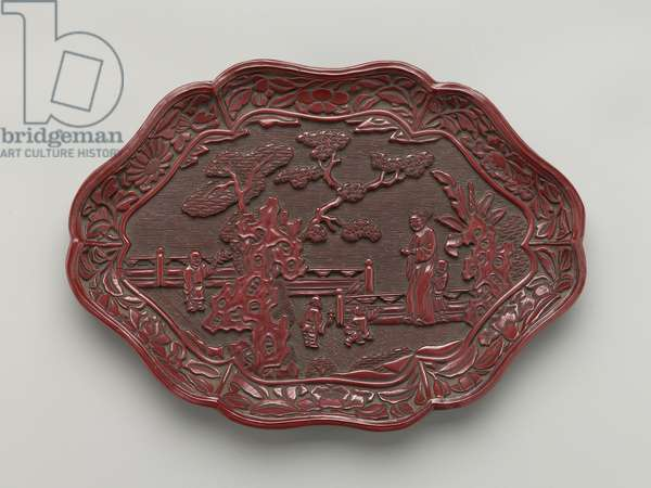 Dish, 15th - 16th century (lacquer)