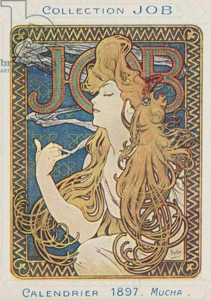 JOB; Calendrier 1897 (colour litho)