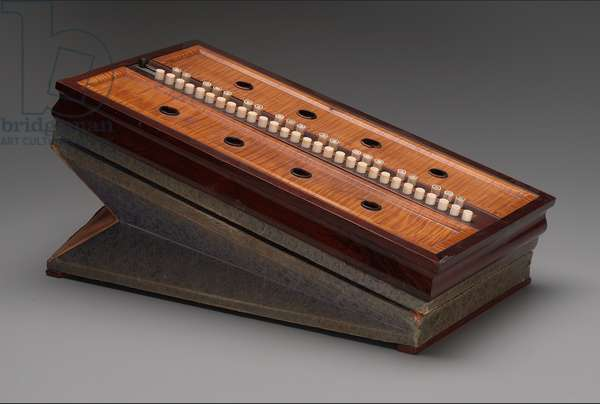 Rocking Melodeon (lap organ), c.1848-50 (rosewood, maple and ivory)