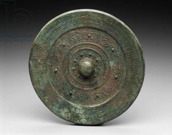 Mirror, Tumuli period, found in Japan (bronze)